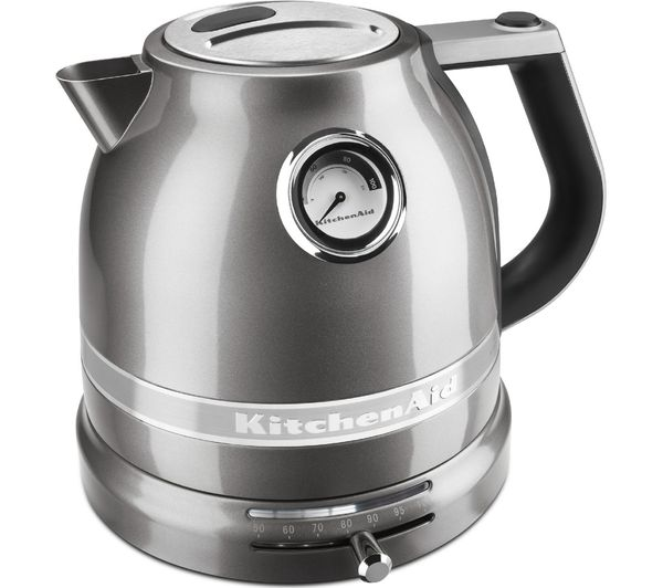 Buy KITCHENAID 5KEK1522BMS Artisan Jug Kettle  Silver  Free Delivery  Currys -> Kitchenaid Jug Kettle