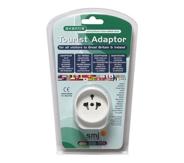 AVANTIX UK Tourist Travel Plug Adaptor