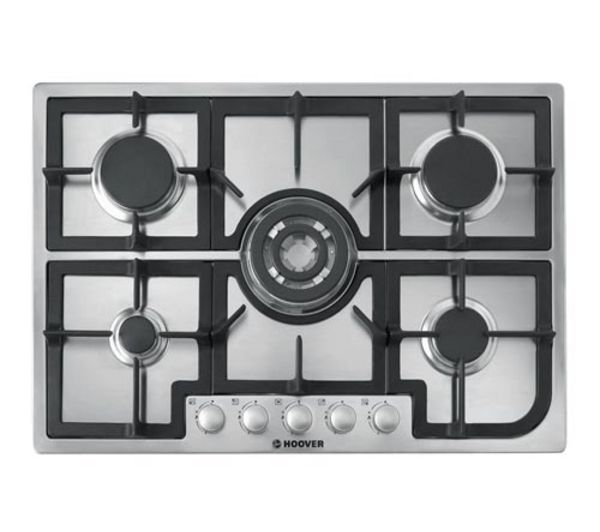 HOOVER  HGH75SQCX Builtin Gas Hob  Stainless Steel Stainless Steel