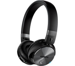 PHILIPS SHB8850NC Wireless Bluetooth Noise-Cancelling Headphones - Black