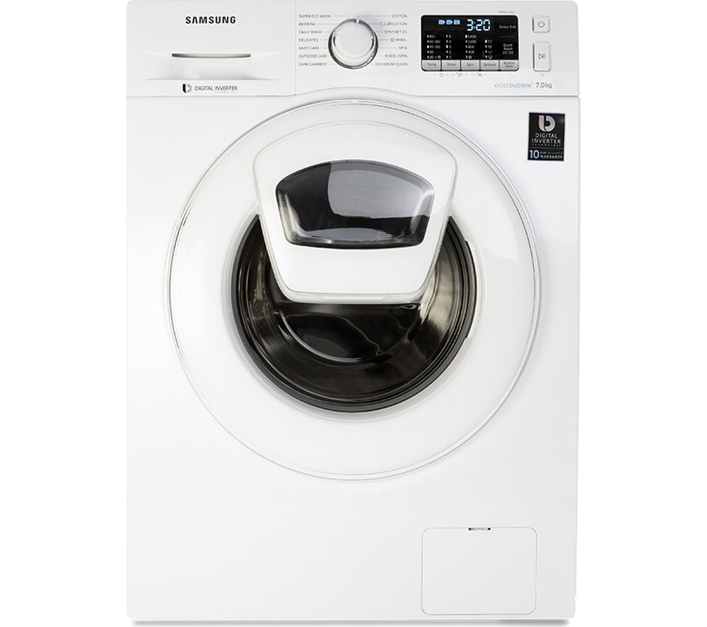 Image of Samsung AddWash WW70K5410WW/EU Washing Machine - White, White
