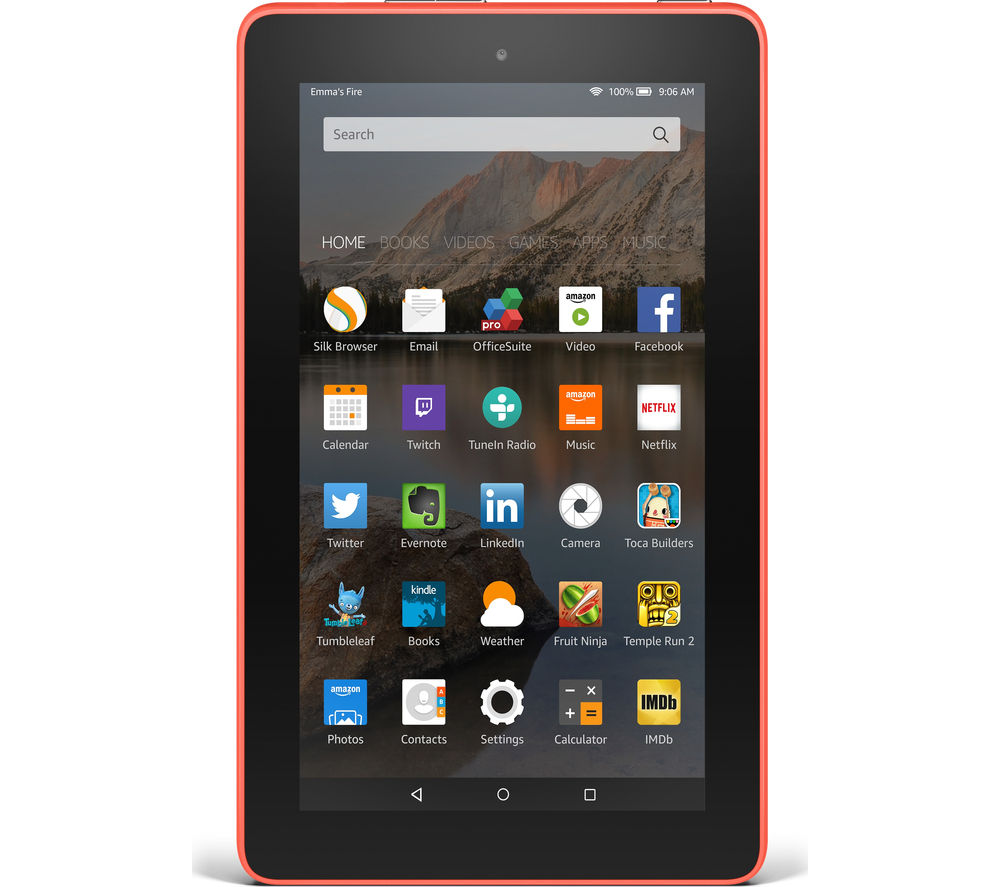 Image of Amazon Fire 7 Tablet - 8 GB, Tangerine