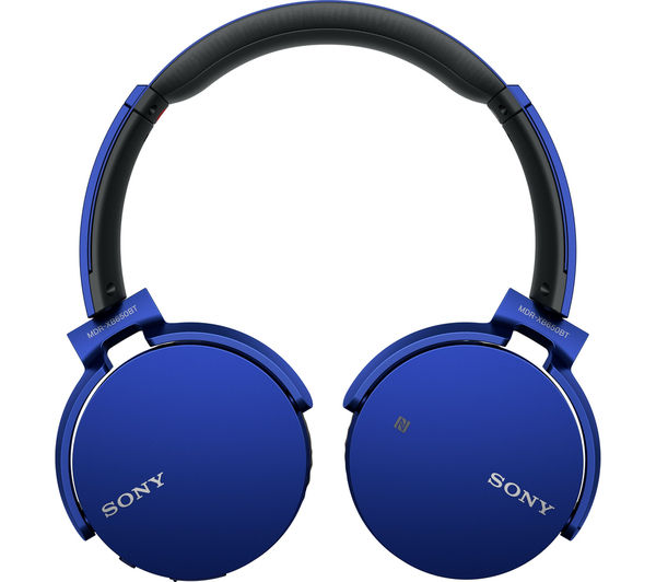 sony mdr xb650btl wireless bluetooth headphones blue deals pc world. Black Bedroom Furniture Sets. Home Design Ideas