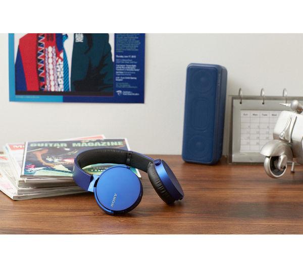 Image of SONY MDR-XB650BTL Wireless Bluetooth Headphones - Blue
