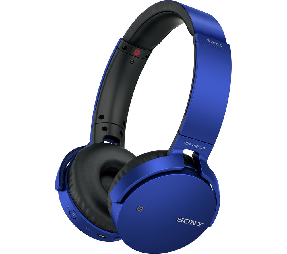 Click to view more of SONY  MDR-XB650BTL Wireless Bluetooth Headphones - Blue, Blue