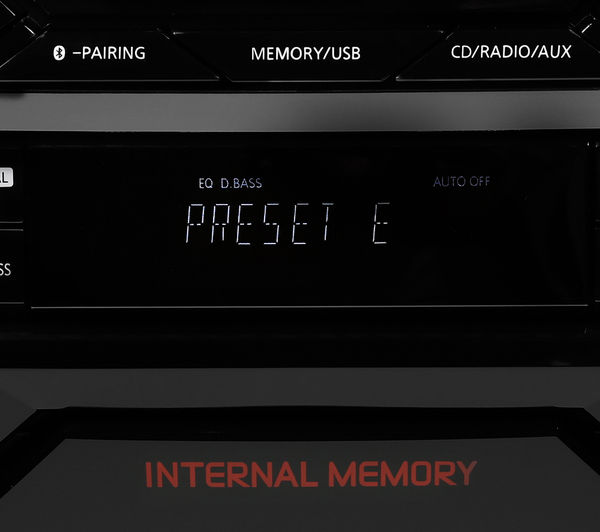 Image of PANASONIC SC-AKX400EBK Wireless Megasound Hi-Fi System - Black