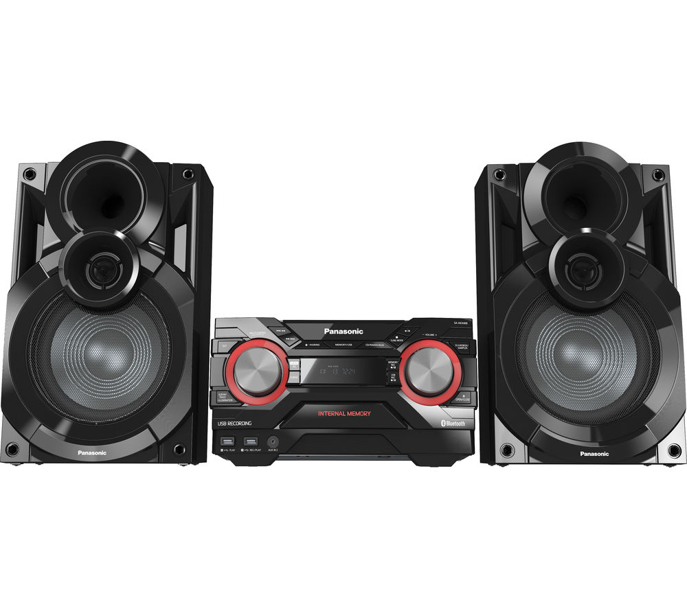 Click to view more of PANASONIC  SC-AKX400EBK Wireless Megasound Hi-Fi System - Black, Black