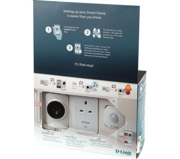 d link mydlink home smart home hd starter kit deals pc world. Black Bedroom Furniture Sets. Home Design Ideas