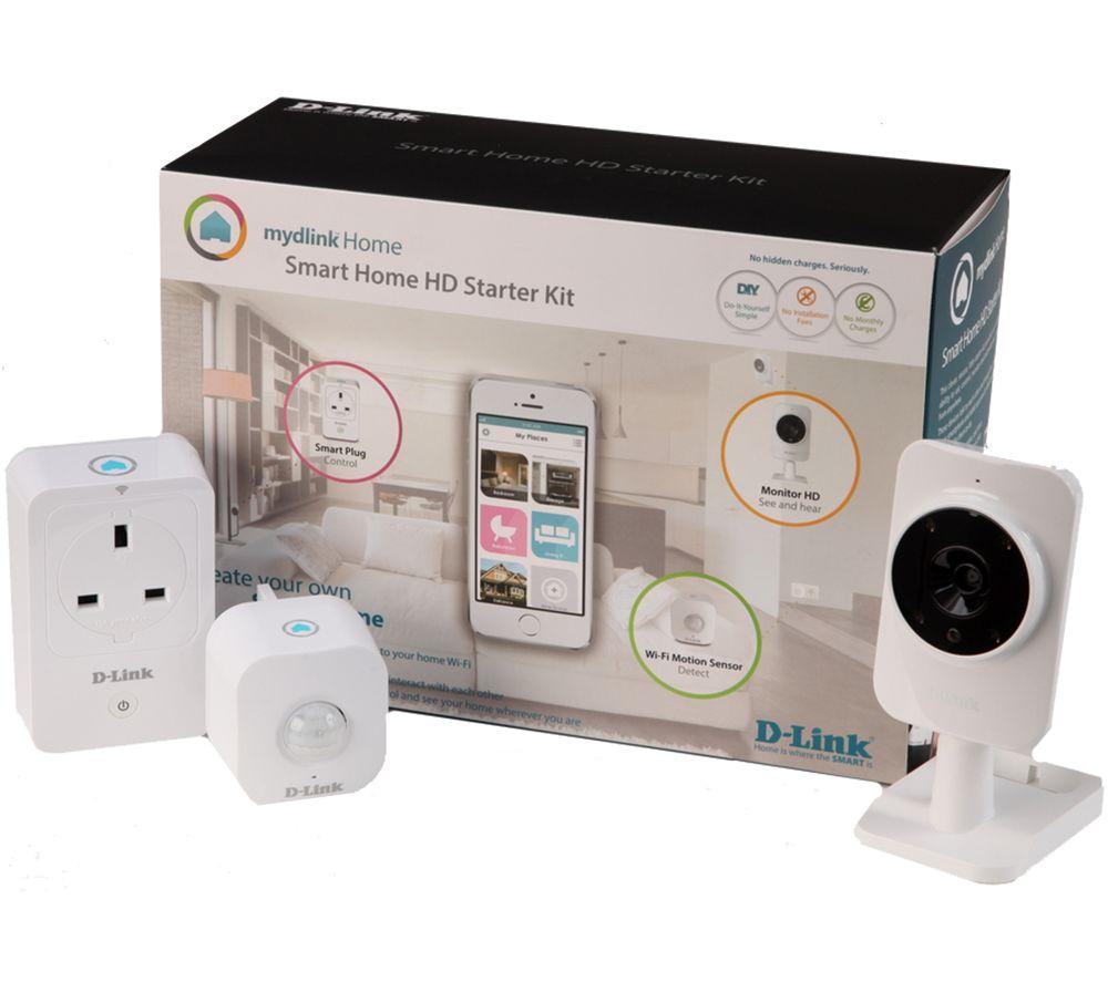 buy d link mydlink home smart home hd starter kit free. Black Bedroom Furniture Sets. Home Design Ideas
