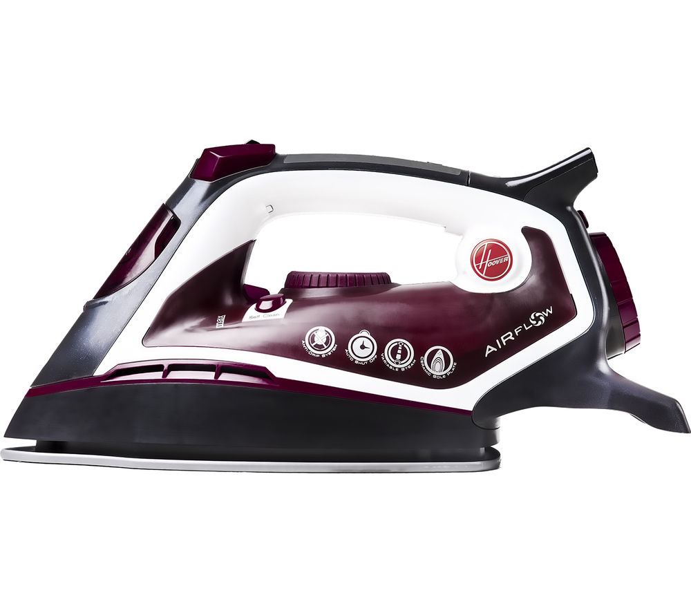 HOOVER  AIRFlow TIF2601/1 Steam Iron - Burgundy & Titanium, Titanium