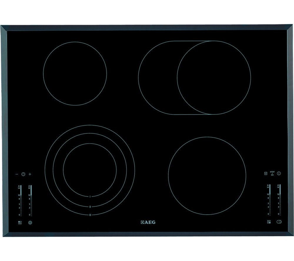 AEG  HK764070FB Ceramic Hob  Black Black