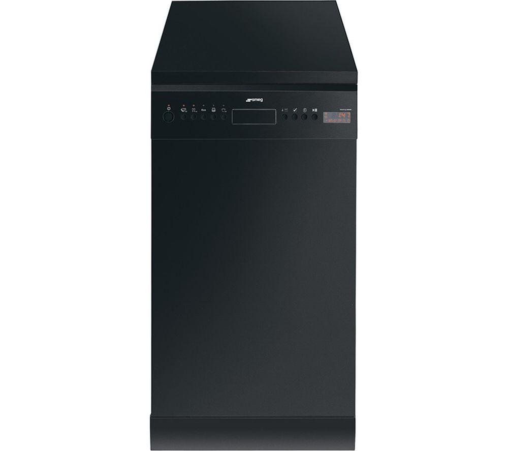 SMEG  D4B1 Slimline Dishwasher  Black Black