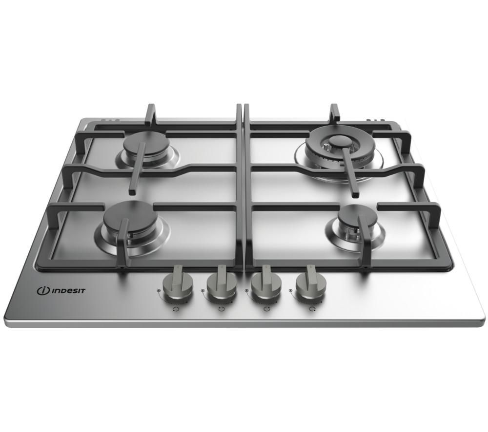 INDESIT Aria THP 641 W/IX/I Gas Hob - Stainless Steel