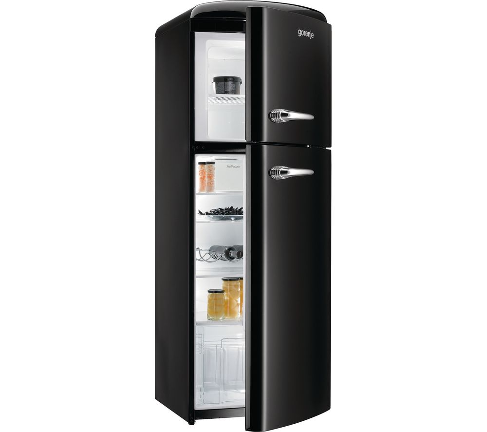 buy gorenje rf60309obk 70 30 fridge freezer black free. Black Bedroom Furniture Sets. Home Design Ideas