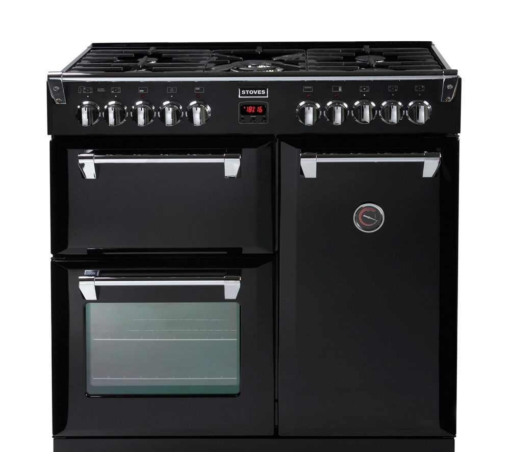 buy stoves richmond 900dft dual fuel range cooker black. Black Bedroom Furniture Sets. Home Design Ideas