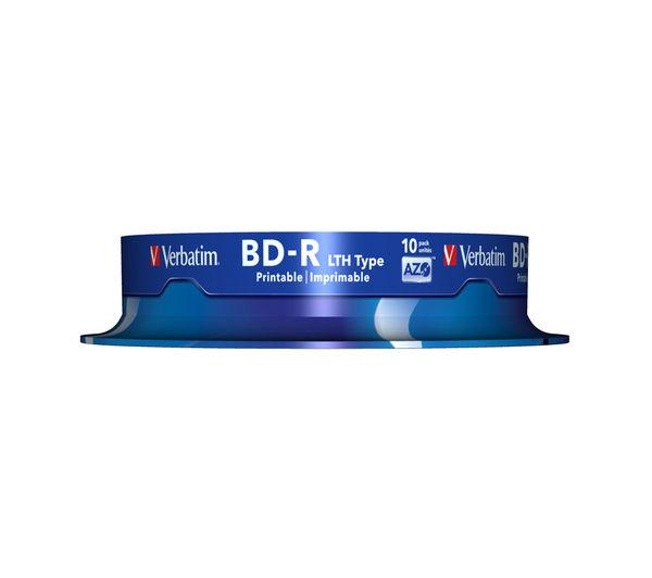 VERBATIM 6x Speed BD-R Blank Blu-ray Discs - Pack of 10