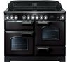 RANGEMASTER Classic Deluxe 110 Electric Ceramic Range Cooker -  Black & Chrome