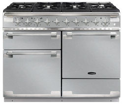 RANGEMASTER Elise 110 Dual Fuel Range Cooker - Stainless Steel & Chrome