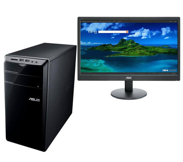 Asus Essentio CM6730UK020S Desktop PC with AOC  e2070Swn 19.5&quot LED Monitor
