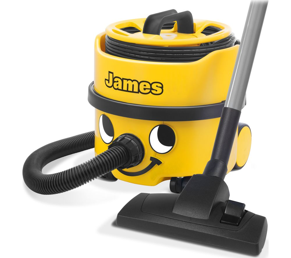 NUMATIC James Hoover JVP180-A1 Cylinder Vacuum Cleaner - Yellow