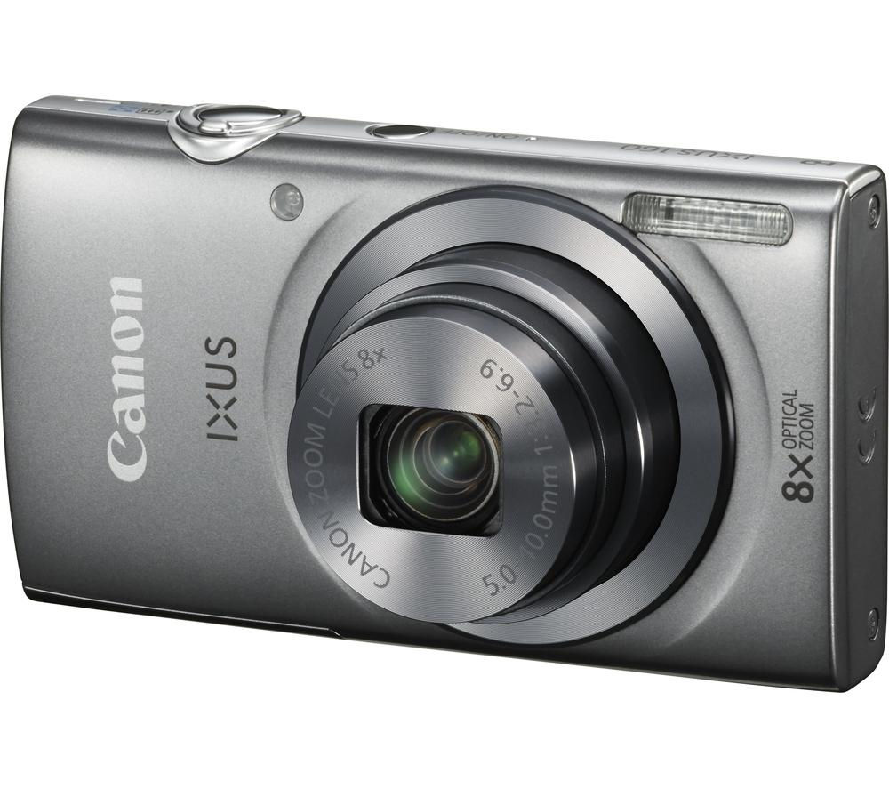 buy canon ixus 160 compact digital camera silver free delivery currys. Black Bedroom Furniture Sets. Home Design Ideas