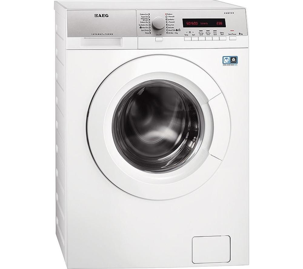 Image of Aeg L76680WD Washer Dryer - White, White
