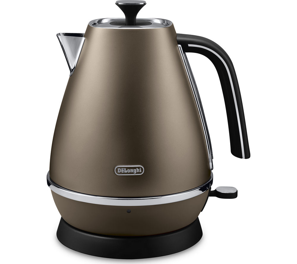DELONGHI Distinta KBI3001.BZ Jug Kettle – Bronze + Distinta ECI341.BZ Coffee Machine - Bronze