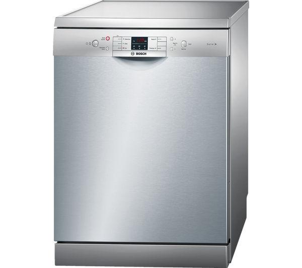 Bosch SMS53M08GB dishwashers full size in Silver 10139377