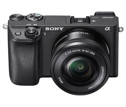 SONY a6300 Compact System Camera with 16-50 mm f/3.5-5.6 Wide-angle Zoom Lens - Black