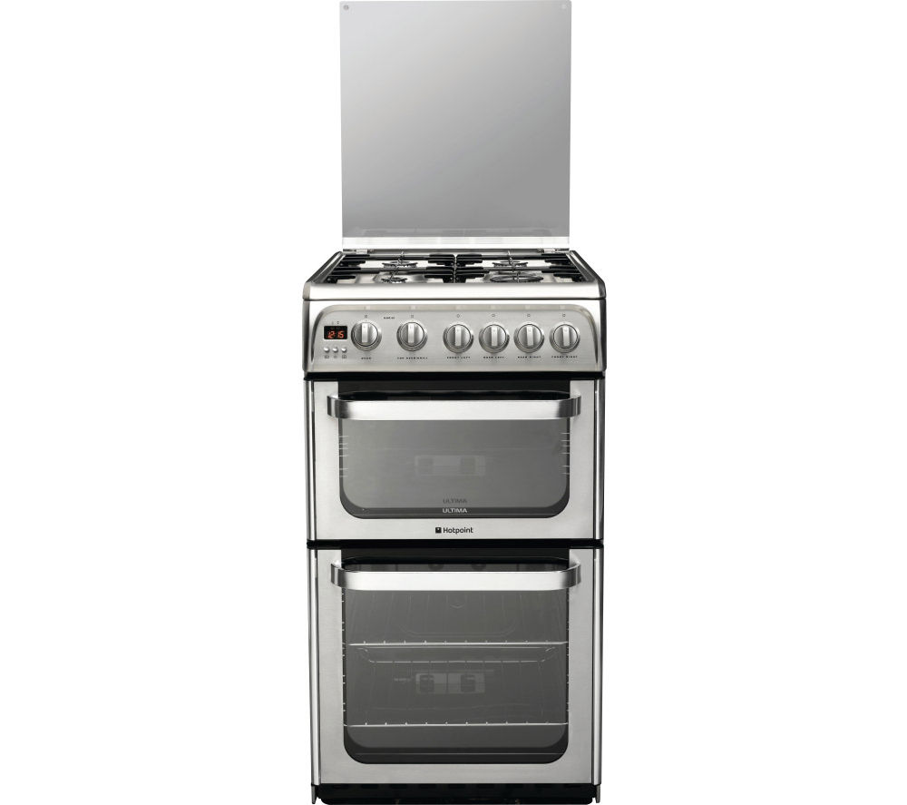 HOTPOINT HUG52X 50 cm Gas Cooker - Stainless Steel