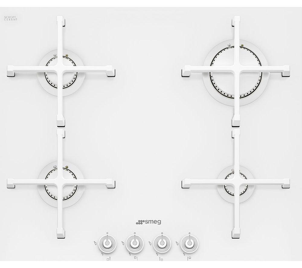 SMEG Linea PV164CB Gas Hob - White