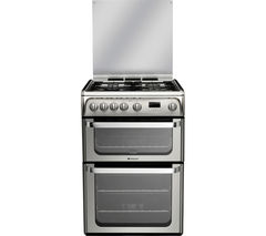HOTPOINT Ultima HUG61X 60 cm Gas Cooker - Stainless Steel
