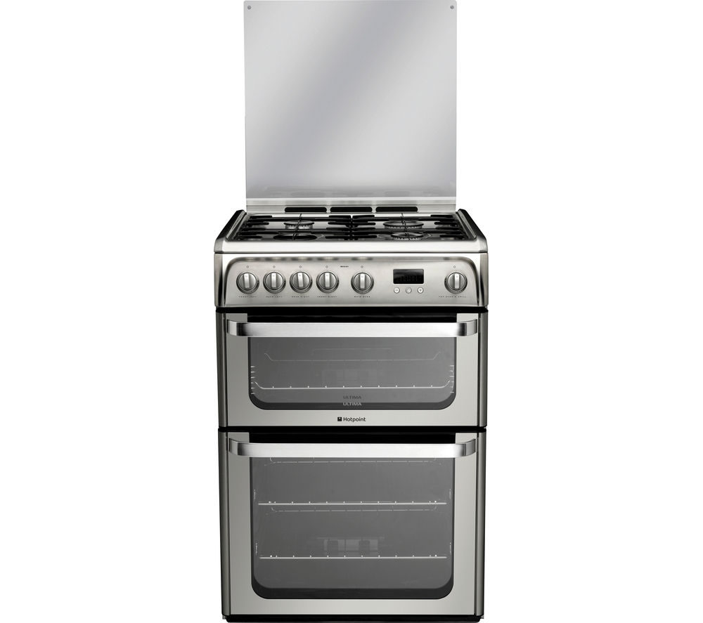 HOTPOINT         Ultima HUG61X 60 cm Gas Cooker - Stainless Steel     Original text