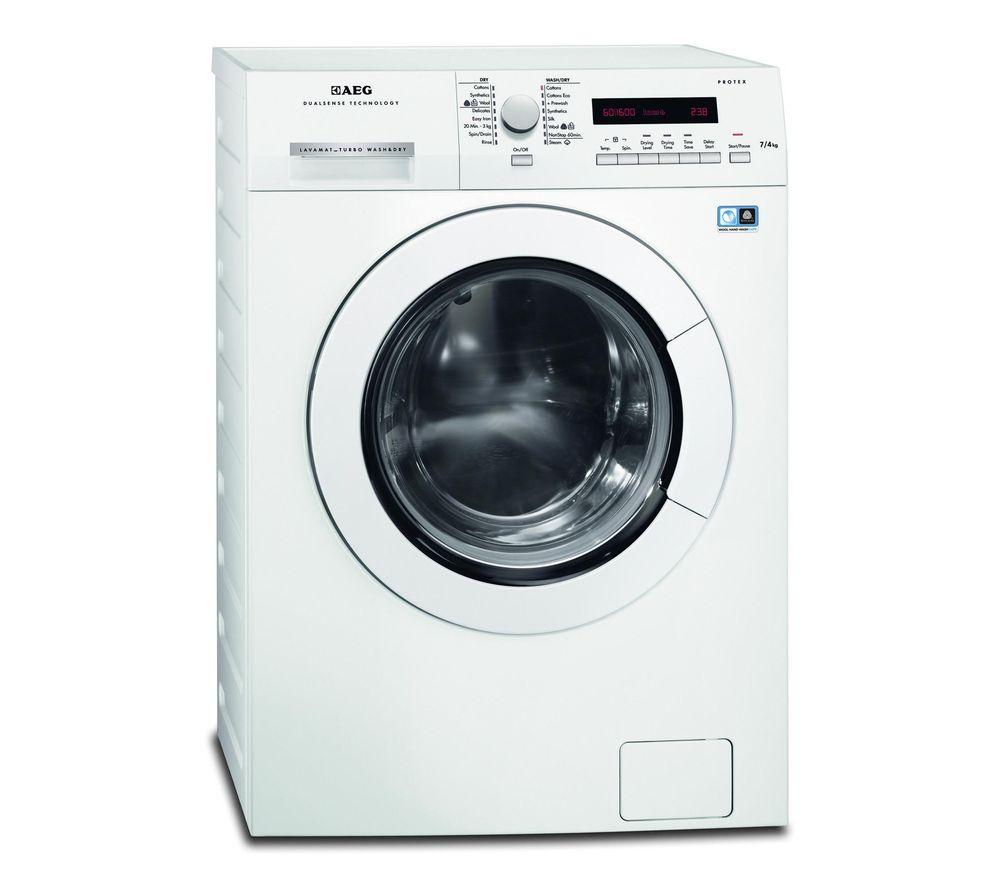 AEG  L75670NWD Washer Dryer  White White
