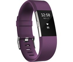 FITBIT Charge 2 Classic Accessory Band - Plum, Large