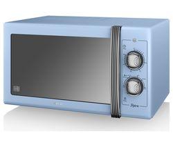 SWAN Retro SM22070BLN Solo Microwave - Blue