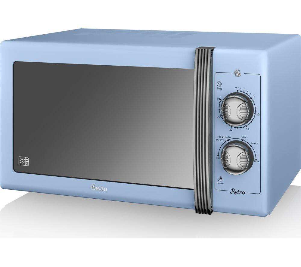 Buy Swan Retro Sm22070bln Solo Microwave Blue Free