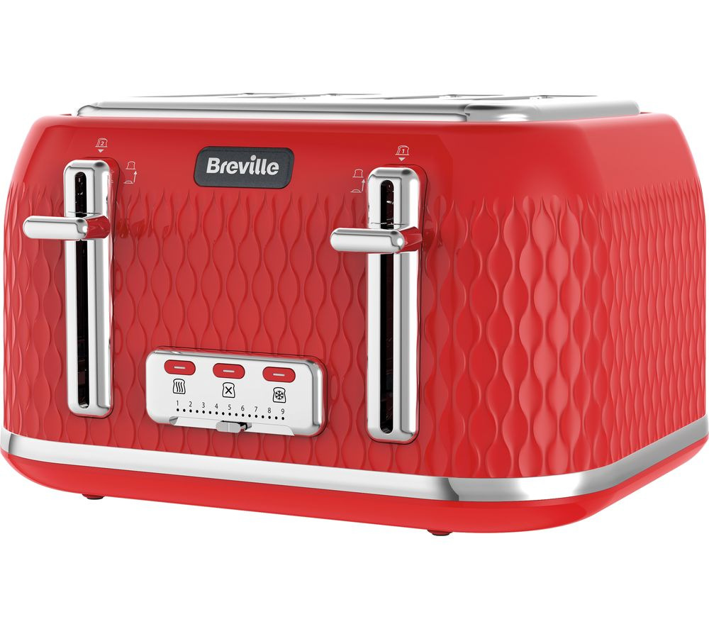 buy breville curve vtt914 4 slice toaster red free delivery currys. Black Bedroom Furniture Sets. Home Design Ideas