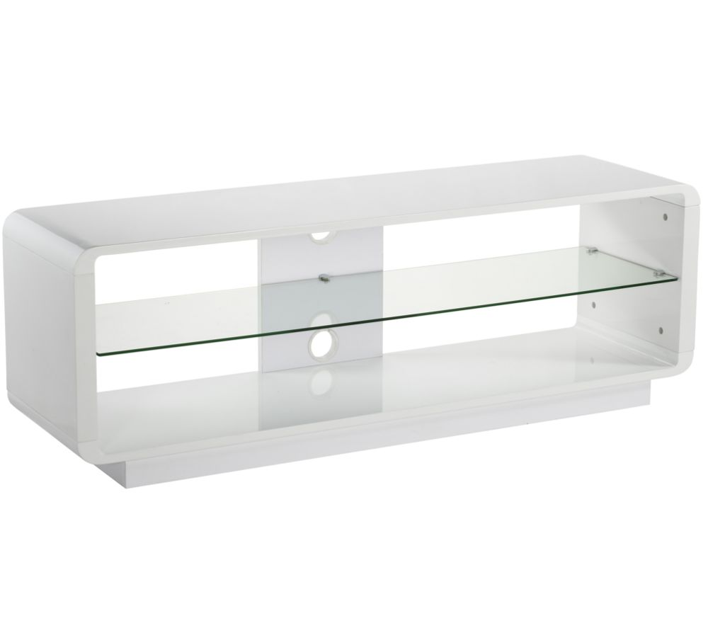 ALPHASON  Luna 1400 TV Stand  White White