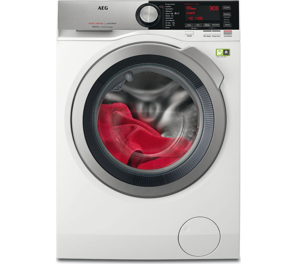 AEG OkoMix L8FEC846R Washing Machine  White White