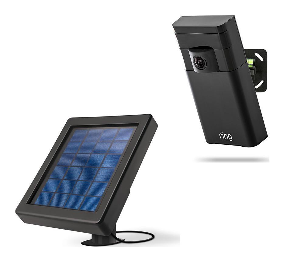 RING Stick Up Cam & Solar Panel Bundle