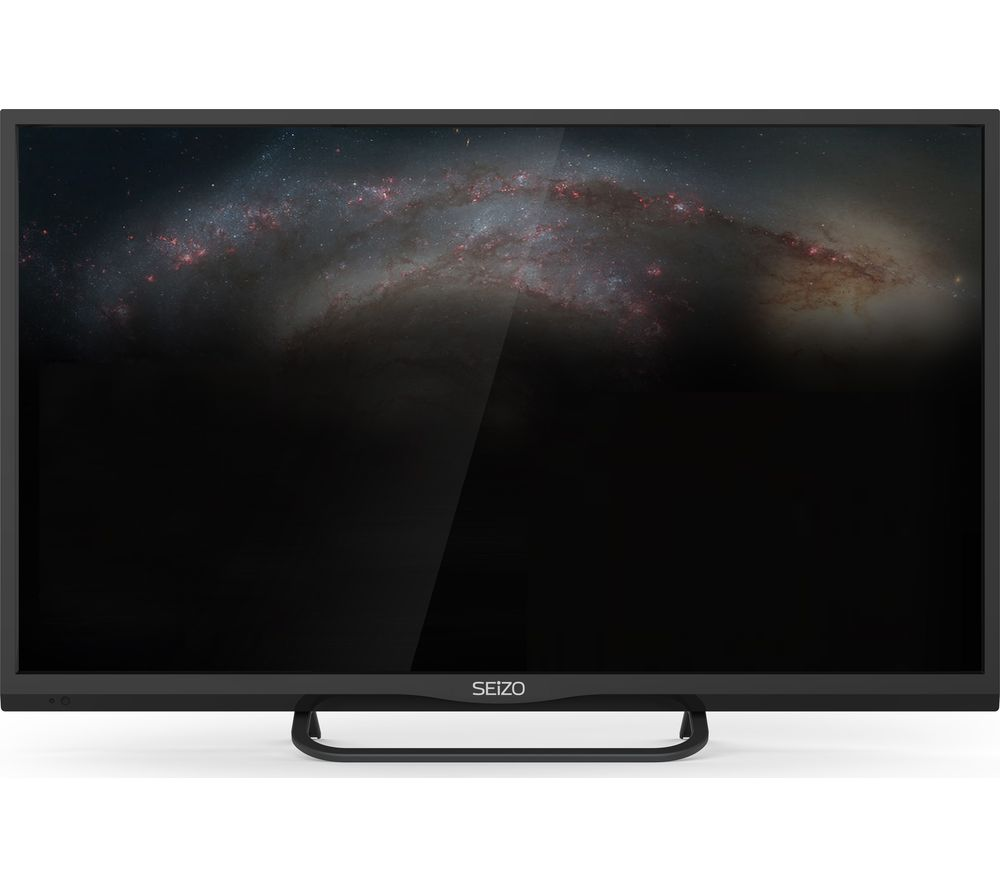"SEIZO SO32HD03UK 32"" LED TV with Built-in DVD Player + SCMK114 Cable Management Kit"