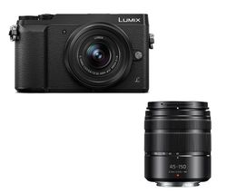 PANASONIC DMC-GX80EB-K Mirrorless Camera with 12-32 mm f/3.5-5.6 Lens - Black