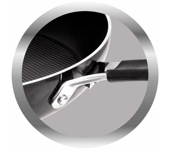 tefal e6040402 jamie oliver hard enamel 24 cm nonstick frying pan black - Non Stick Frying Pan
