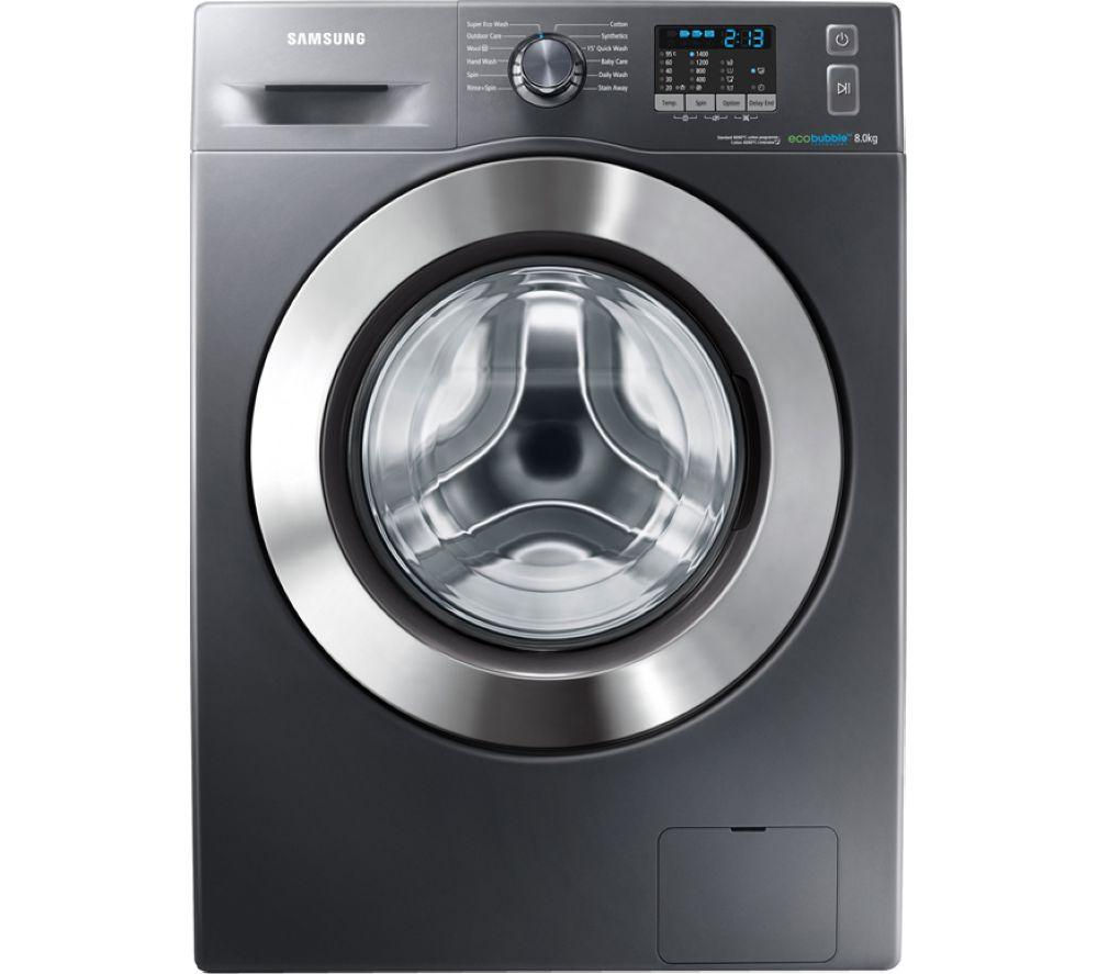 Image of Samsung ecobubble WF80F5E2W4X Washing Machine - Graphite, Graphite
