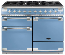RANGEMASTER Elise 110 Dual Fuel Range Cooker - China Blue & Chrome