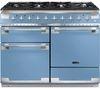 RANGEMASTER Elise 110 Dual Fuel Range Cooker - China Blue & Chrome
