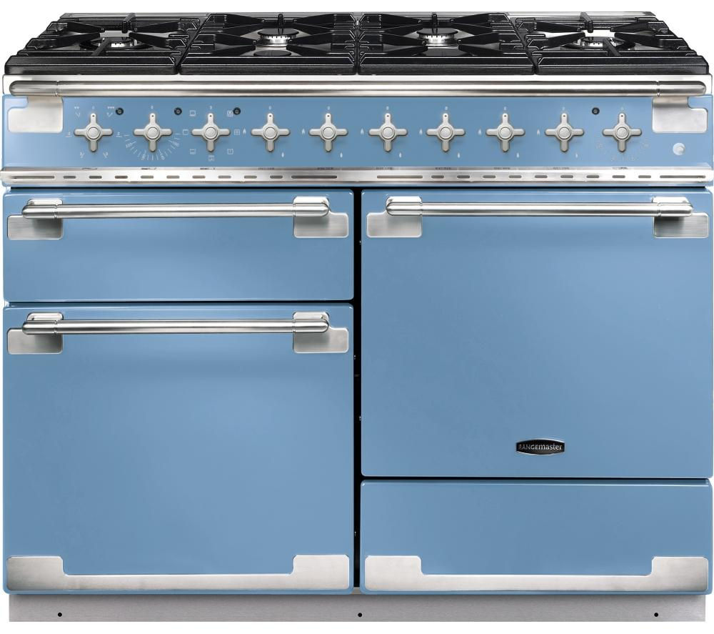 RANGEMASTER  Elise 110 Dual Fuel Range Cooker  China Blue & Chrome Blue