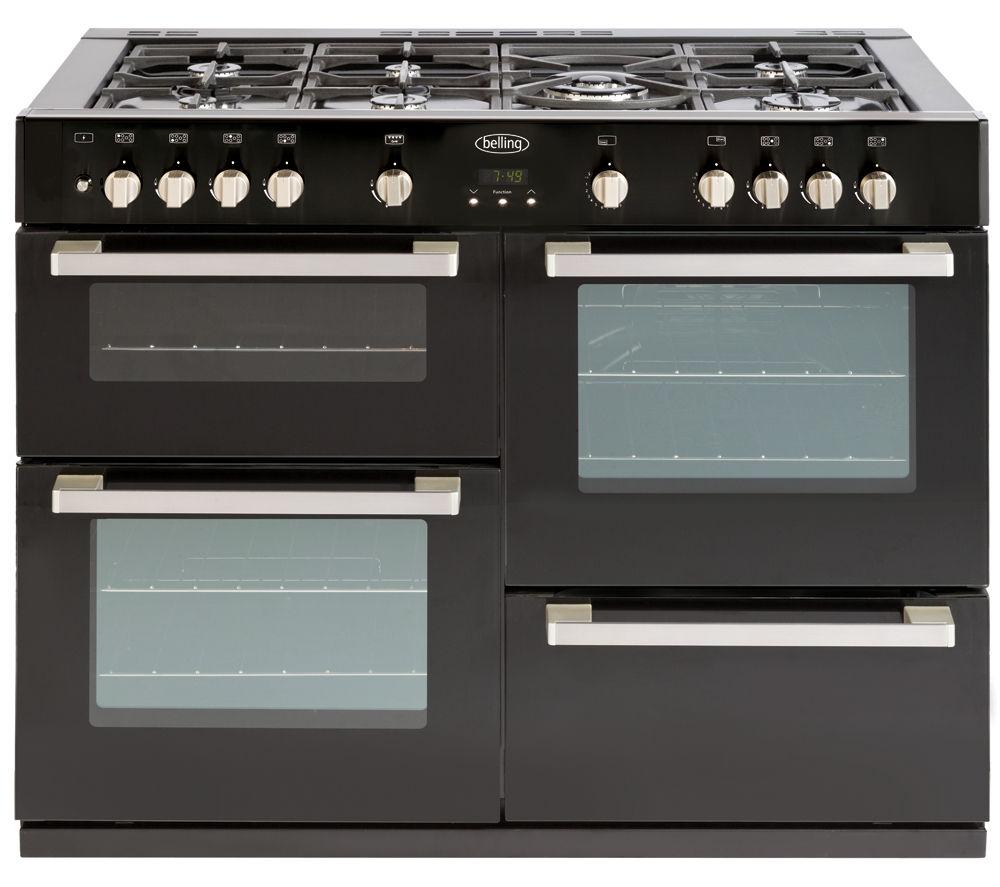 buy belling db4 110g gas range cooker black free. Black Bedroom Furniture Sets. Home Design Ideas