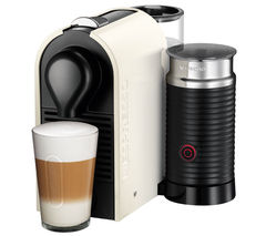 NESPRESSO by Krups U XN260140 Coffee Machine with Aeroccino - Pure Cream